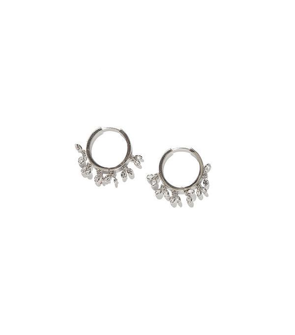 Adornmonde Crystal Hoop Earrings