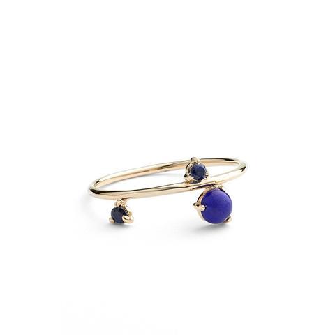 Sapphire & Lapis Ring