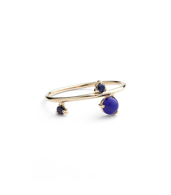 Wwake Sapphire & Lapis Ring