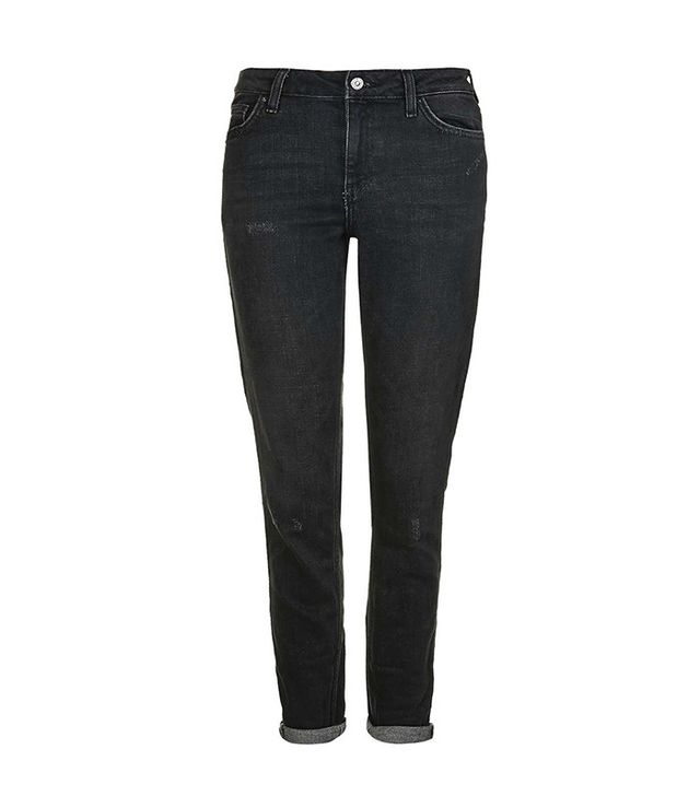 Topshop Moto Washed Black Lucas Jeans