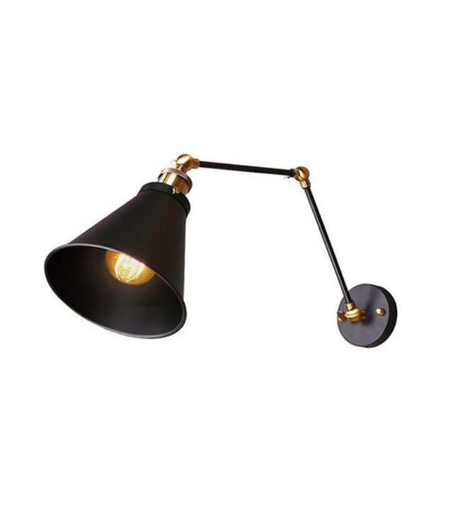 Highlight Metal Industrial Swing Arm Wall Sconce