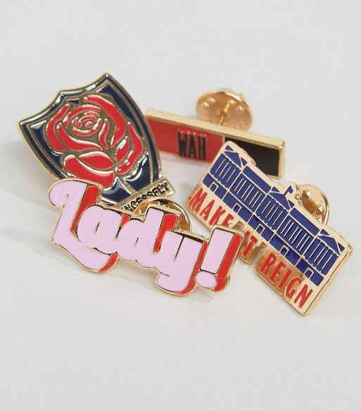 WAH London x ASOS Set of 4 Pin Badges