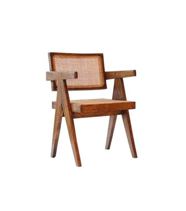 iconic modern furniture. pierre jeanneret set of two office cane elegant chairs 16335 iconic modern furniture 3
