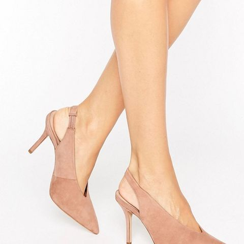 Minett Point Slingback Heeled Shoes Blush
