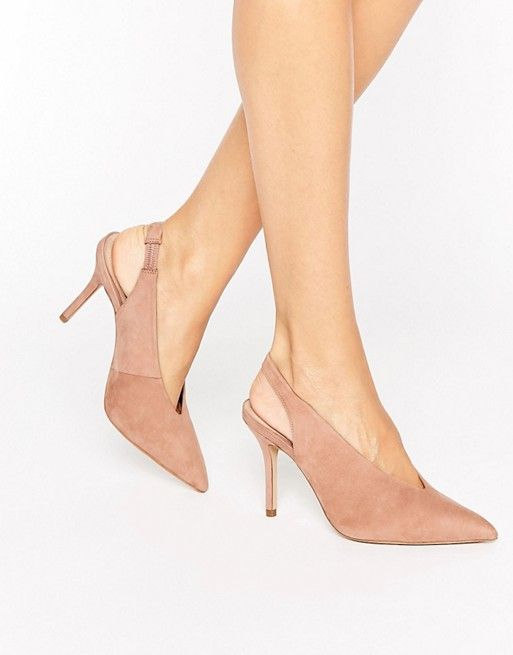 Aldo Minett Point Slingback Heeled Shoes Blush