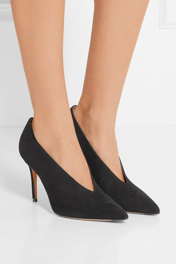 Vince Portia Suede Black Pumps