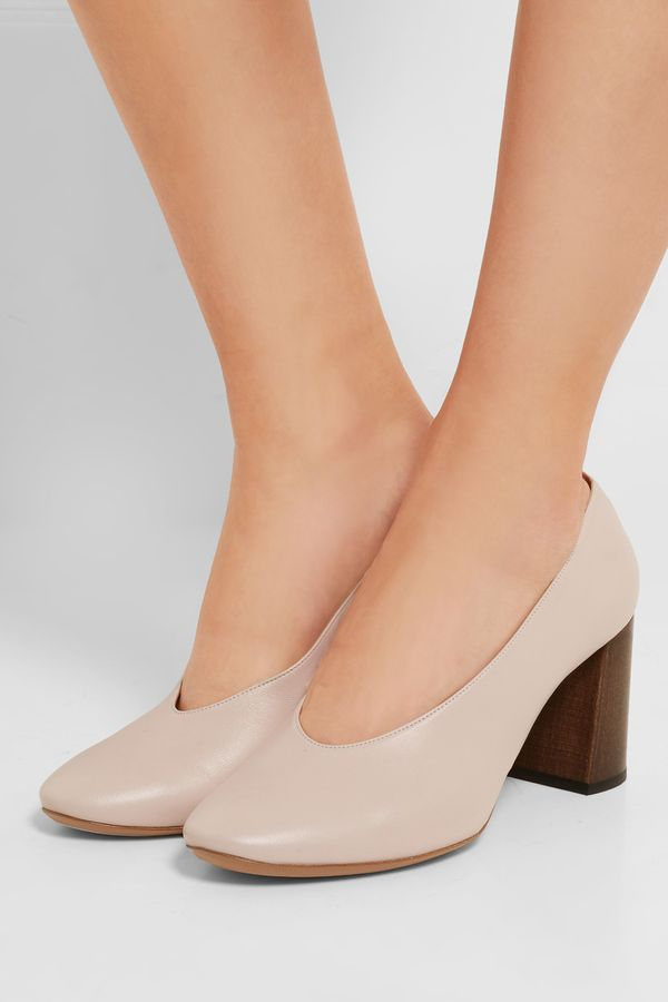 Chloé Cream Leather Pumps