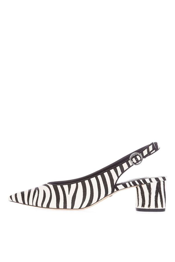 Topshop Jinny High Cut Shoes in Zebra