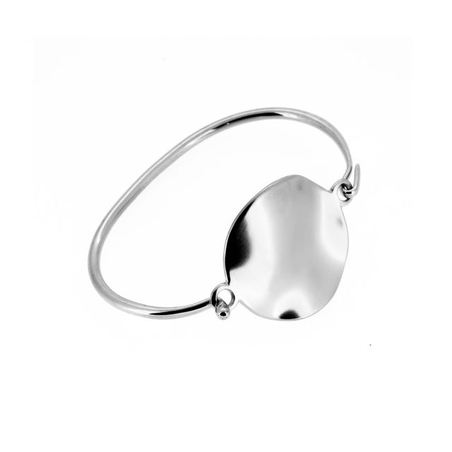 Holly Ryan Silver Wavee Disc Bangle