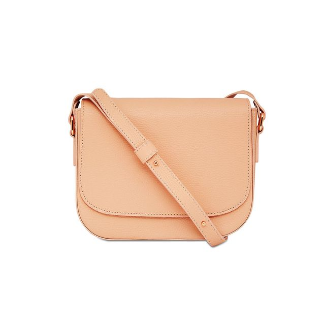 Mon Purse Grainy Leather Cross Body Satchel in Tan