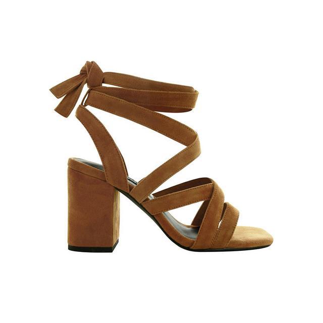 Senso Ralphie Tan Suede Lace Up Heels