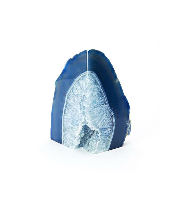 West Elm Agate Bookend in Blue