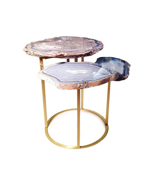 Matthew Studios Inc. Quinn Three-Tier Agate Coffee Table