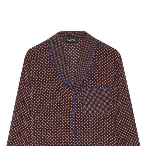 Peggy Polka-Dot Silk-Crepe Shirt