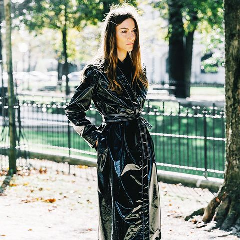 autumn microtrends: patent trench coats