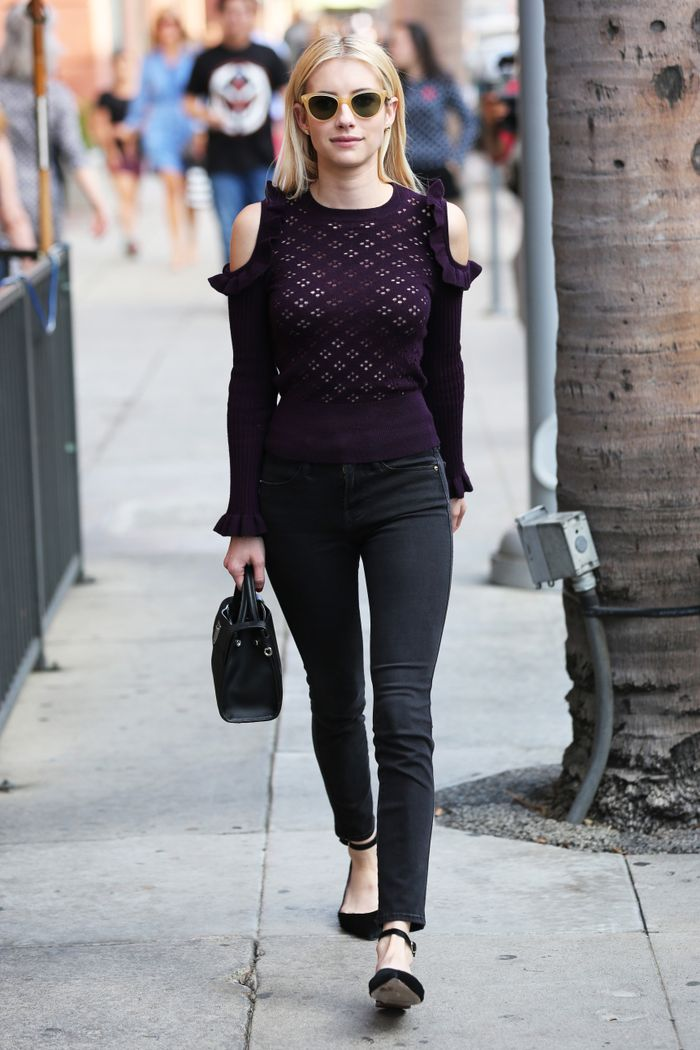 Emma Roberts Jill Stuart Israela Sweater