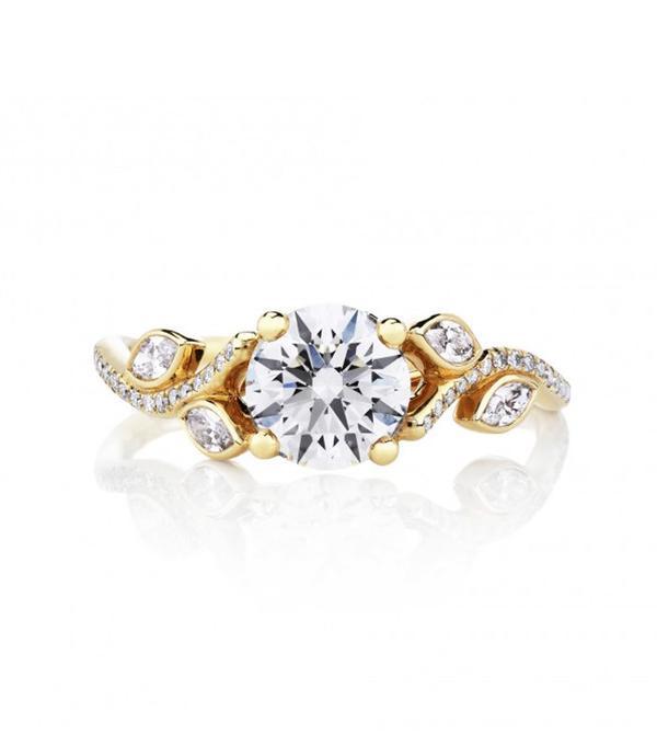 De Beers Adonis Rose Pink Gold Solitaire Ring