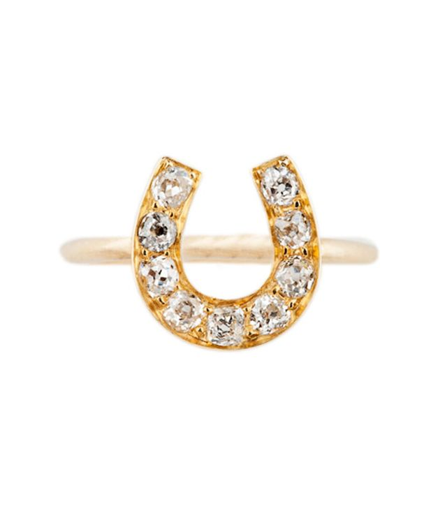Best Engagement and Diamond Rings: Annina Vogel Old Cut Diamond Horseshoe Ring