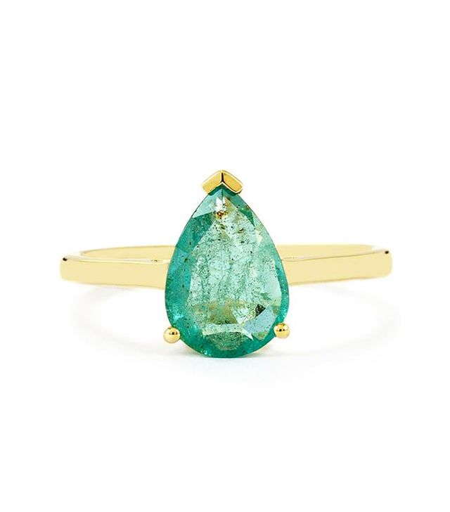 Best Engagement and Diamond Rings: Gemporia Zambian Emerald 9k Gold Ring