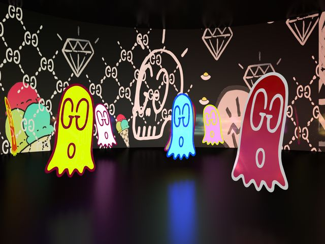 Gucci Ghost room by Trouble Andrew at Gucci 4 Rooms