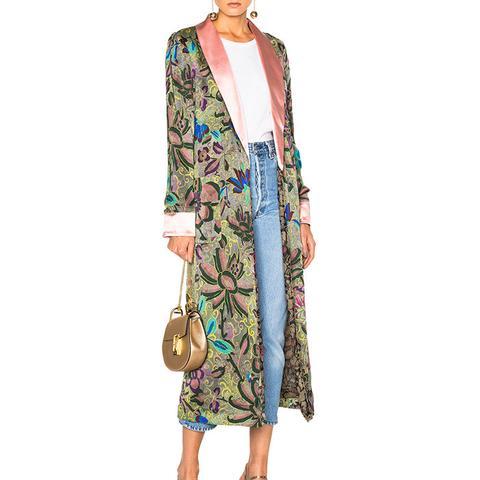 Pearl Reversible Silk Robe
