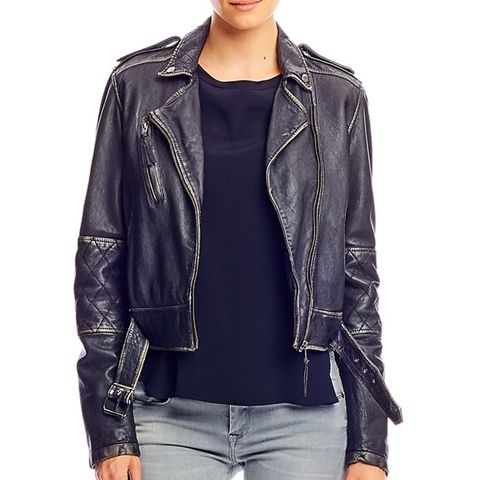Artelier Distressed Leather Jacket