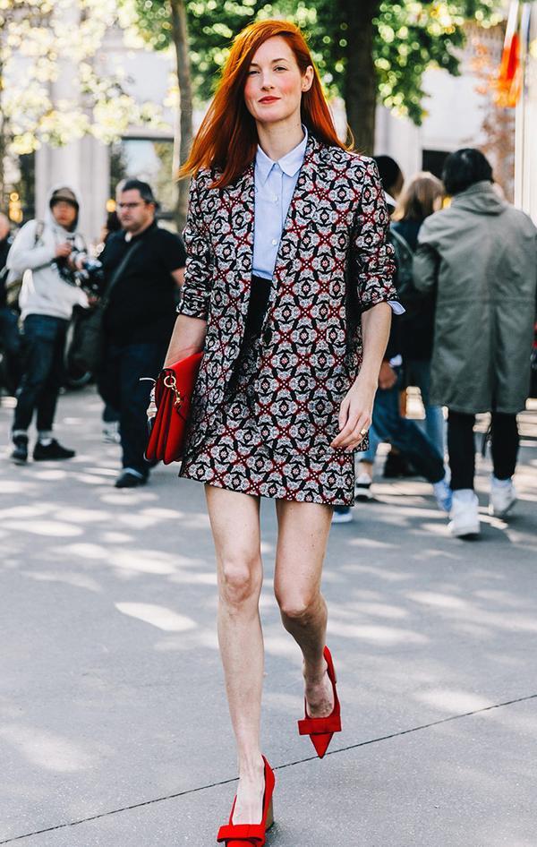 Taylor Tomasi Hill at fashion week.