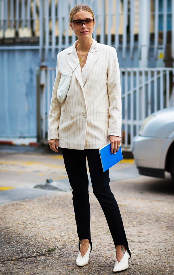 Pernille Teisbaek at fashion week.