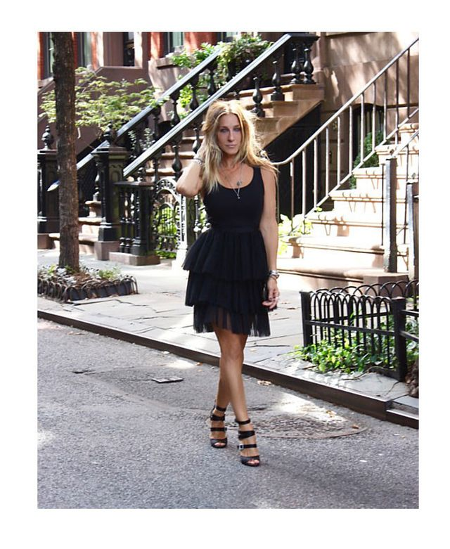 SJP LBD by Sarah Jessica Parker Fit-and-Flare Tulle Dress