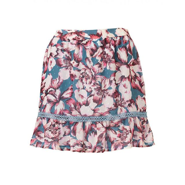 Sportsgirl Purple Floral Flippy Print Skirt