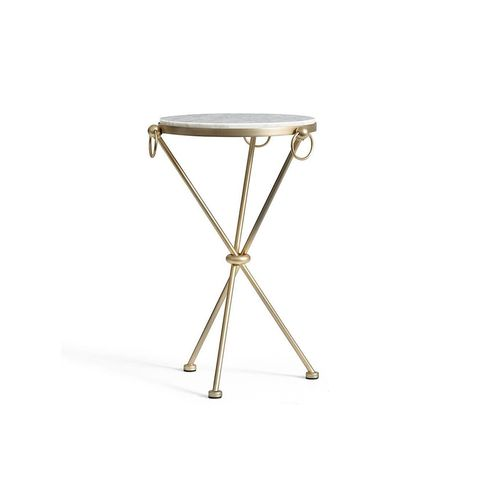 Leila Marble-Top Side Table