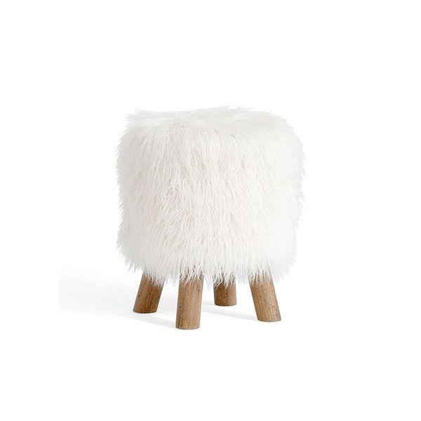 Pottery Barn Faux Fur Stool