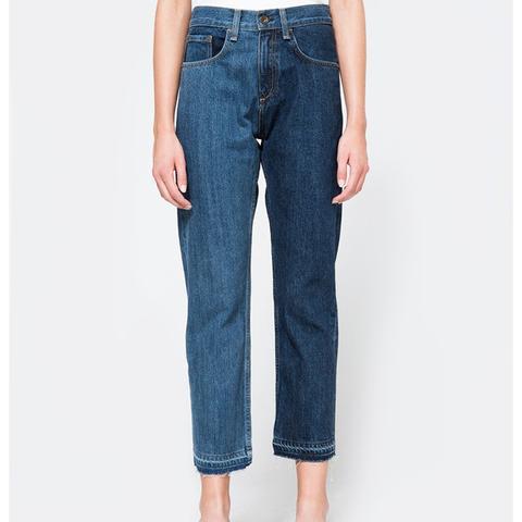 2 Tone Crop Jeans