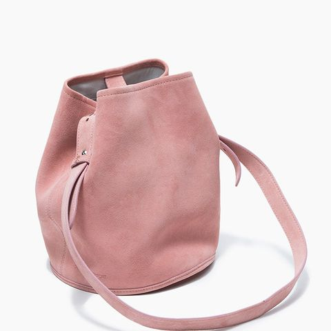 Small Bucket Bag in Suede