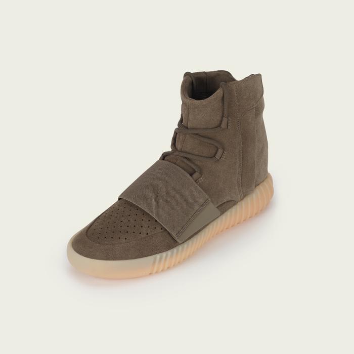 Kanye West x Adidas Yeezy Boost 750 Sneakers in Tan