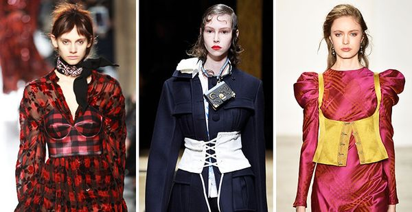fall runway trends corsets