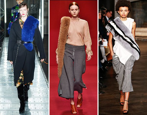 fall runway trend stoles