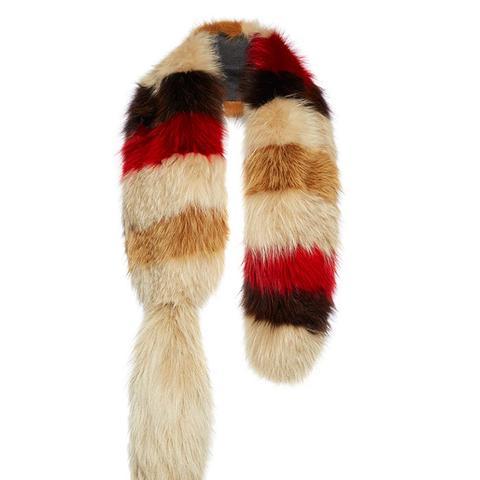 Striped Fox Fur Stole