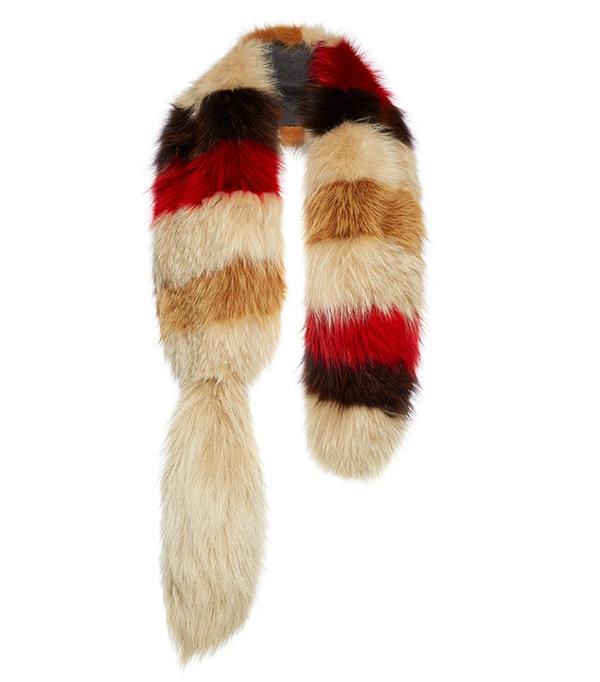 Marni Striped Fox Fur Stole