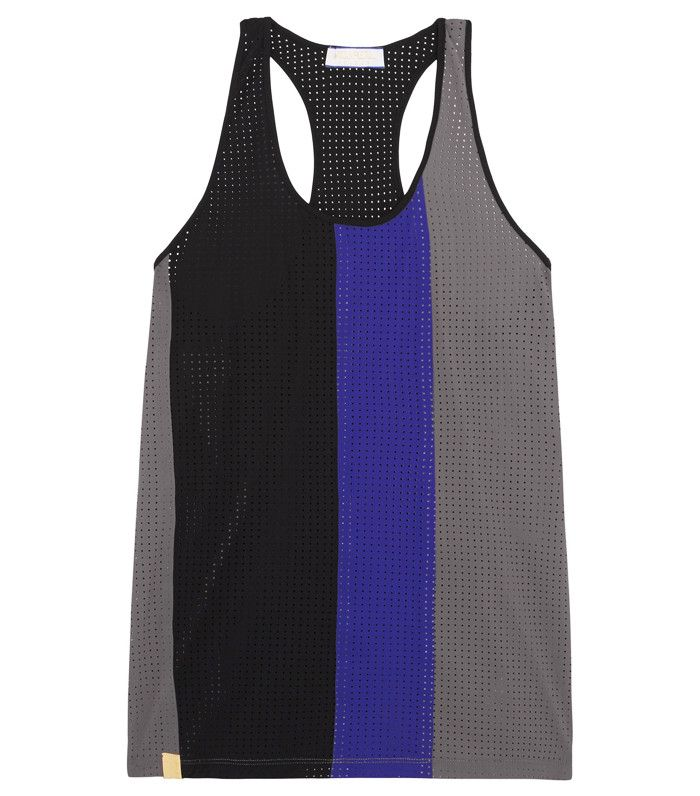 Best workout clothes: Monreal London Color-Block Perforated Stretch-Jersey Tank