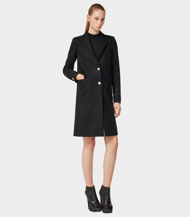 Versus Versace Heavyweight Wool Long Coat