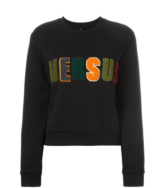 Versus Versace Textured Logo Sweatshirt