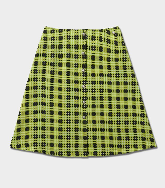 Versus Versace Optical Tartan Cady Skirt