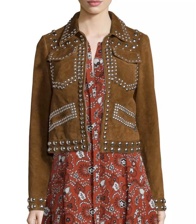 A.L.C. Blaine Studded Suede Jacket