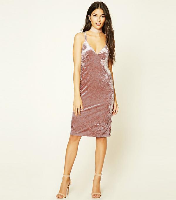 Forever 21 Contemporary Velvet Cami Dress