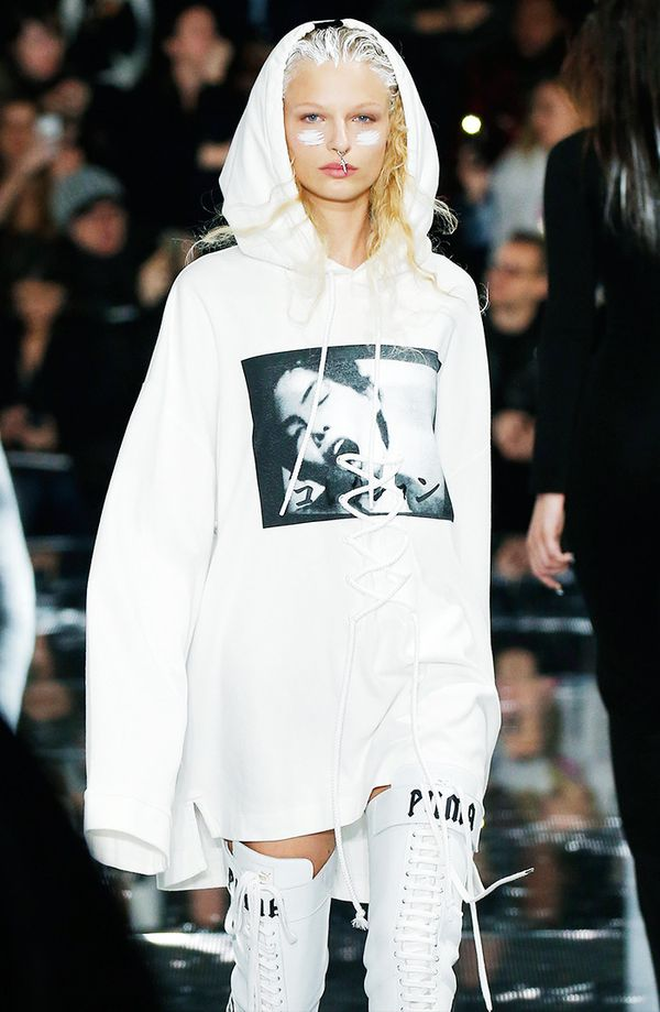 Rihanna's Fenty by Puma collection unveiled the coolest sweatshirt with subtle lace detailing on front.