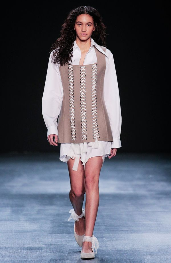 Tome's take on this trend felt more literal on this curve-hugging bustier.