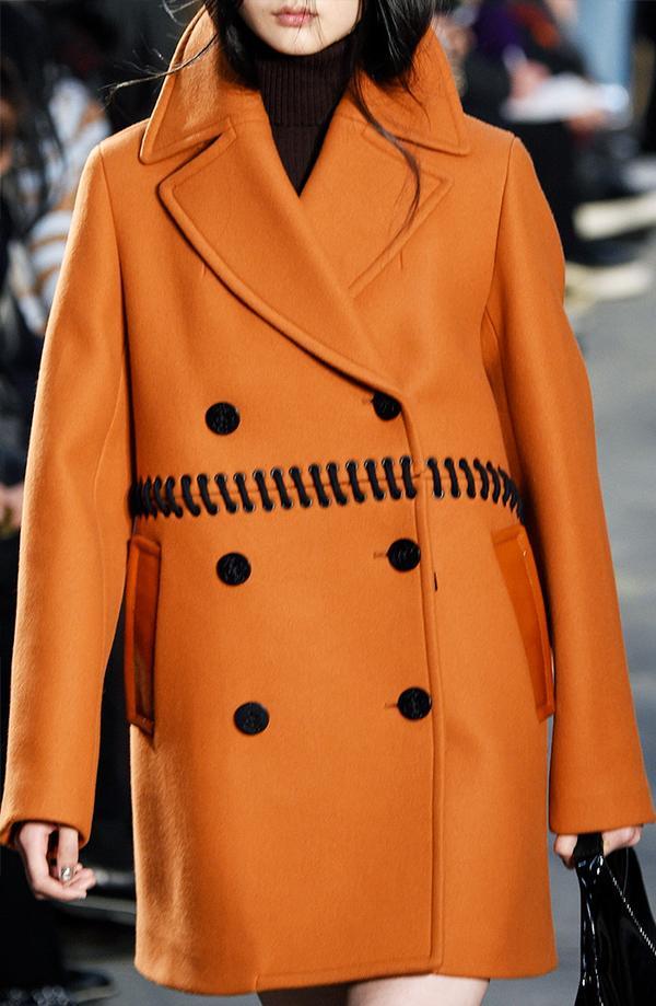 This orange 3.1 Phillip Lim coat has us embracing our autumnal color palettes.