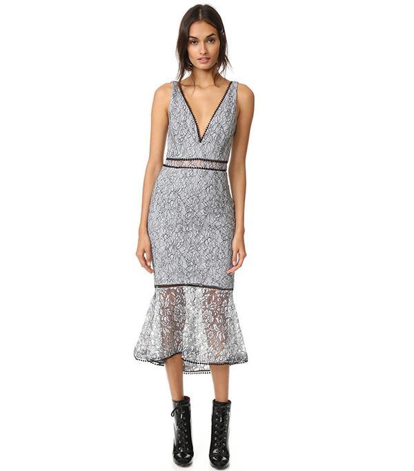 French Lace Plunge Dress Nicholas