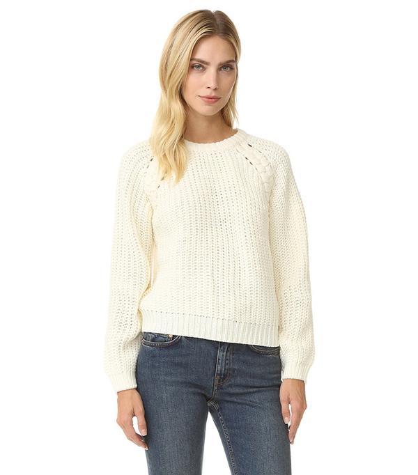 Lace Up Side Sweater J.O.A
